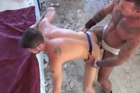 muscular gays butthole pounding - Factory video scene