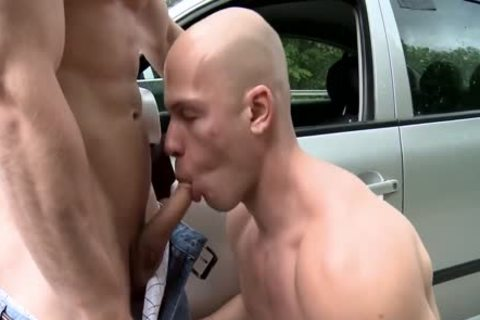 Super lewd homosexual love to bareback plow and blowjobs