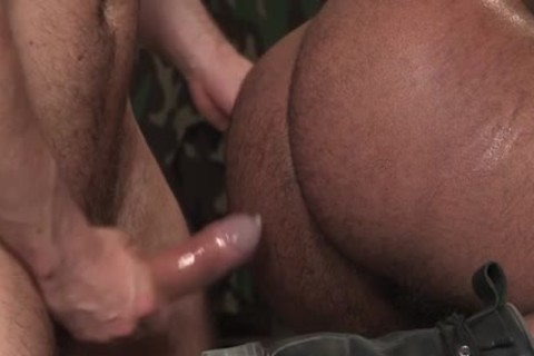 Muscle Bear Interracial And goo flow